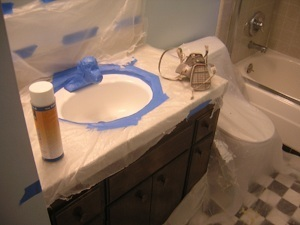 how to paint a sink with sink epoxy