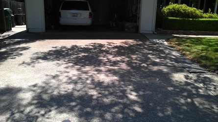 how to fix the break in the home driveway